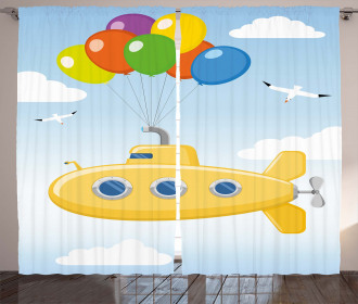 Flying in Sky Curtain