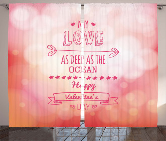 Pink Love Story Curtain