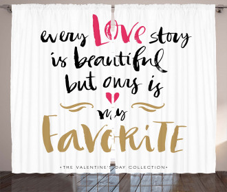 Romantic Quote Curtain