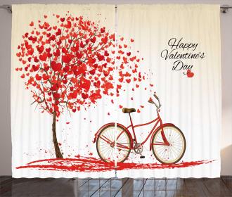 Heart Tree Bike Curtain