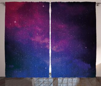 Stardust Space Rainbow Curtain