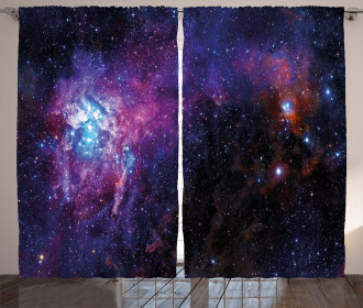 Mother Baby Nebula View Curtain