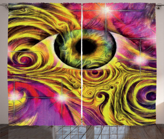 Hippie Vivid Color Curtain