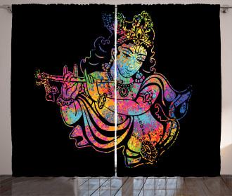Mystic Religious Figure Curtain