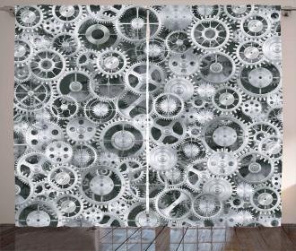 Clock Technologic Pattern Curtain