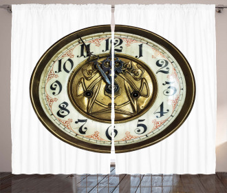 Antique Clock with Face Curtain