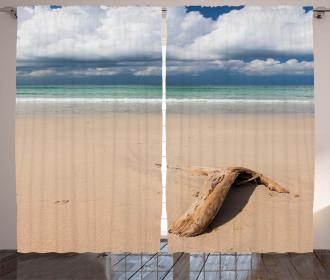 Driftwood on the Beach Curtain