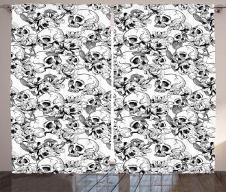 Sketch Dead Skull Curtain