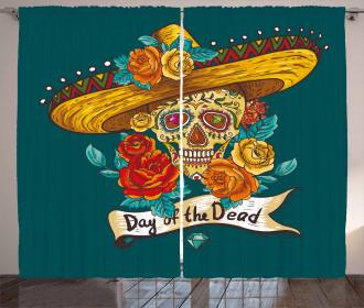 Mexican Festive Hat Curtain