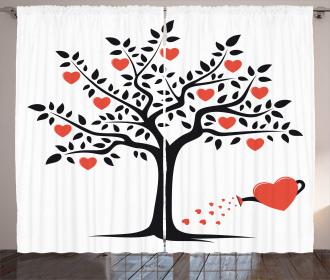 Romantic Love Tree Curtain