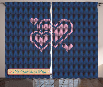 Digital Knit Hearts Curtain