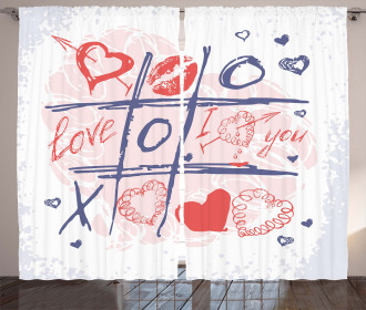 Xoxo Game with Lips Curtain
