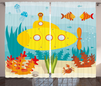 Sea Life Theme Curtain
