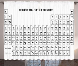 Element Table Chemisty Curtain