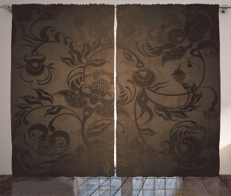Floral Paisley Ivy Curtain