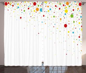 Spots Like Confetti Curtain
