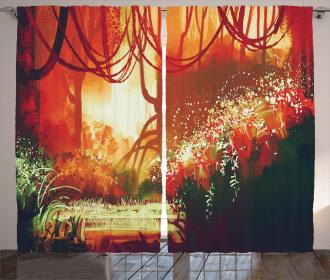 Modern Autumn Forest Curtain