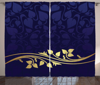 Romantic Royal Leaves Curtain