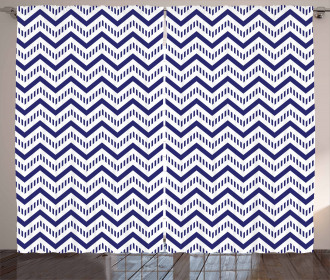 Zig Zag Striped Pattern Curtain
