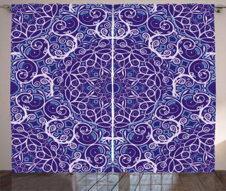 Bohemian Floral Circle Curtain