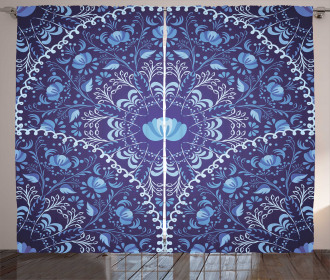 Oriental Circular Design Curtain