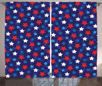 American Flag Stars Curtain
