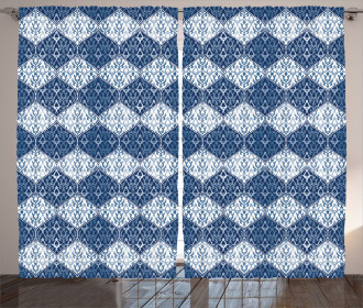 Oriental Patchwork Asian Curtain