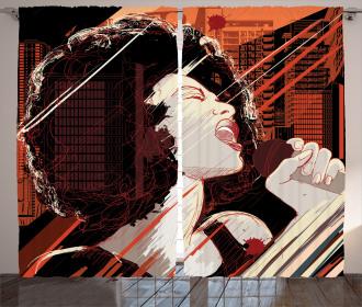 Musical Jazz Singer Woman Curtain