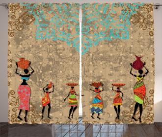 Folkloric Boho African Curtain