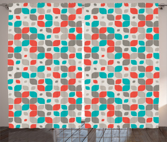 Retro Mosaic Motif Curtain