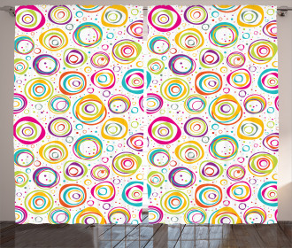Kids Spiral and Dots Curtain