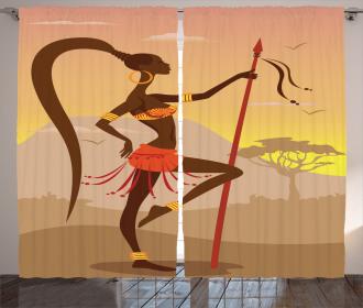 Savannah Amazon Girl Retro Curtain
