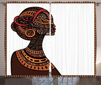 Tribal Exotic Totem Mask Curtain