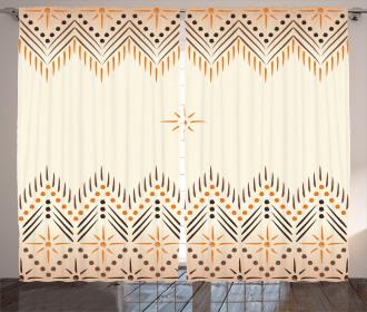 Primitive Aztec Pattern Curtain