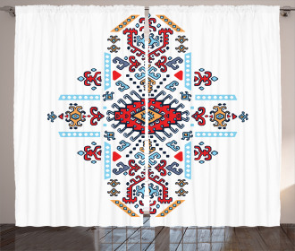 Mexican African Pattern Curtain