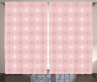 Rhombus Stripes Line Curtain