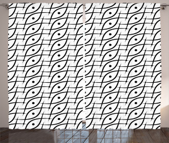 Trippy Leaf Spots Curtain
