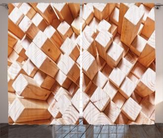 Natural Wood Rustic Curtain