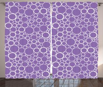Abstract Fractal Circles Curtain