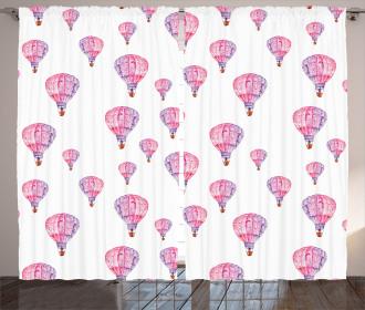 Vintage Air Balloons Curtain