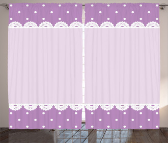 Old Lace Patterns Polka Curtain