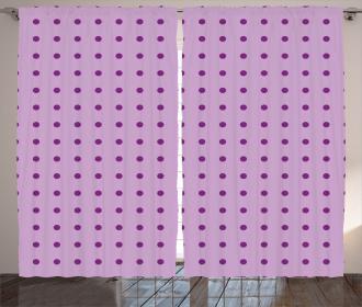 Fashion Polka Dots Curtain