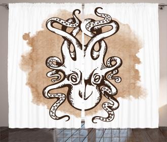 Ancient Kraken Monster Curtain