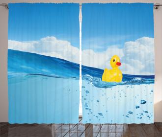Swimming in Pool Curtain