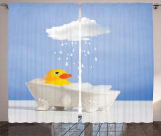 Duck Taking Bath Curtain