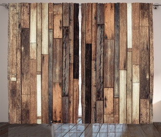 Old Floor Rustic Style Curtain