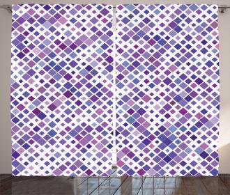 Purple Retro Artsy Curtain
