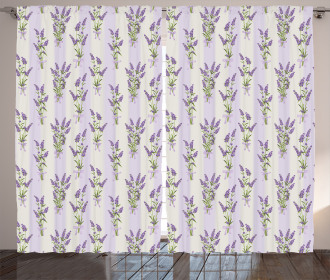 Stripes and Flowers Curtain