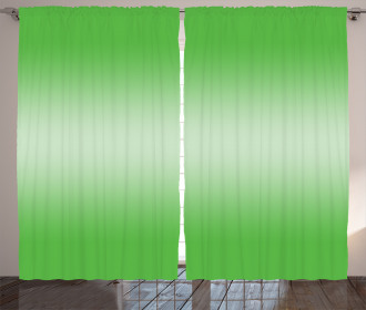 Digital Spring Grass Art Curtain
