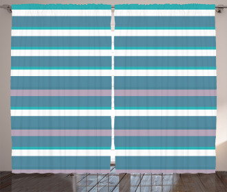 Turquoise Teal Pattern Curtain